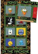 MATTHEWS MINI MONSTERS Blocks Panel Black