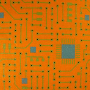 MATTHEWS MINI MONSTERS Circuit Board Orange